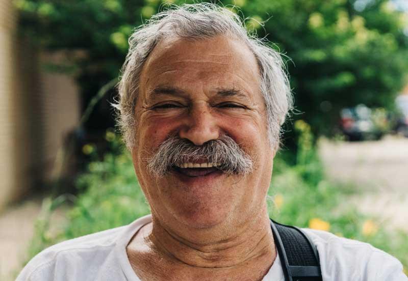 senior man, happy